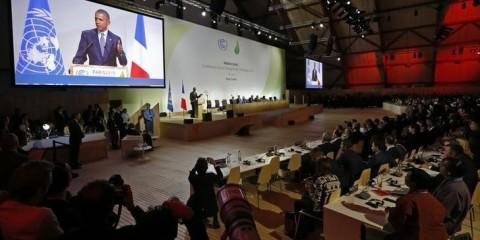 Presidente dos EUA, Barack Obama, discursa durante  a COP 21, em Paris. 30/11/2015 REUTERS/Stephane Mahe