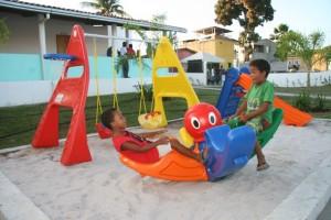 Área de lazer para as crianças