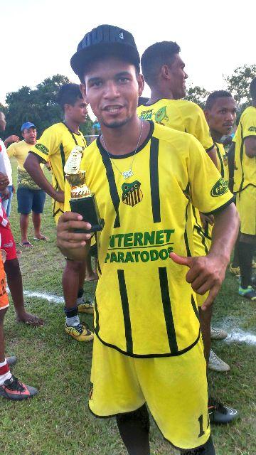 Artilheiro do campeonato - Eliezer, do time do Novo Horizonte