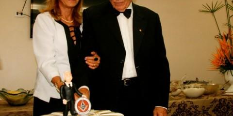 João Edson Aguiar Viana e a esposa Jocy celebraram seus 50 anos de 'Paz e Fraternidade'