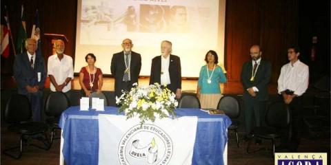 Mesa de abertura do evento com a presença dos acadêmicos da AVELA