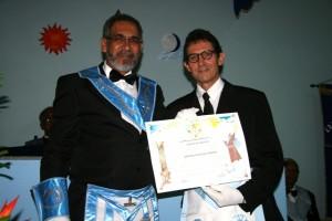 Vidalto Oiticica, diretor do Jornal Valença Agora recebe homenagem da Loja Pedra Reluzente feita ao seu veículo de comunicação