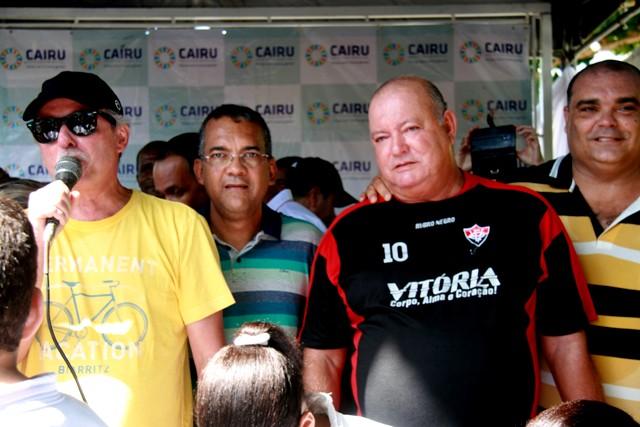 Empresário Luiz Mendonça Filho; Fernando Brito e o Defensor Público Dr. Carlos Maia