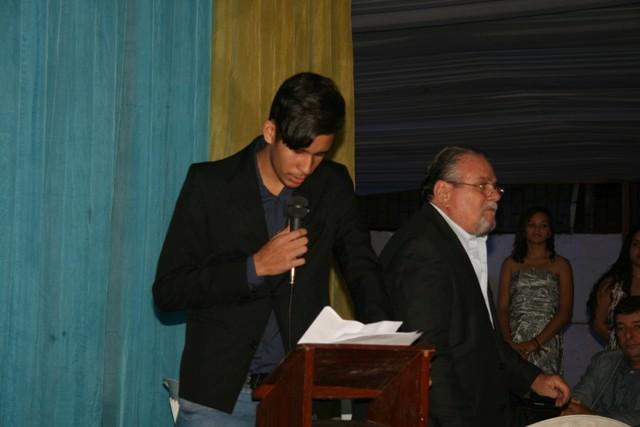 Bruno Freitas, presidente do Interact Valença em seu discurso de posse