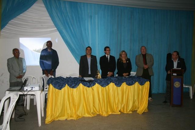 Mesa solene da cerimônia de posse da nova diretoria