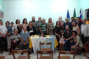 Membros da AVELA e convidados se confraternizam em cerimônia de homenagem a Mustafá Rosemberg