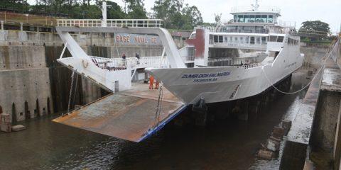 Ferrys passam por revisão geral para o verão Local: Base Naval de Aratu Foto: Elói Corrêa/GOVBA