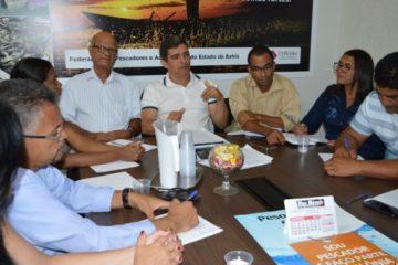 Presidente da FEPESBA, Raimundo Costa, dirigiu a reunião