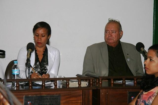 Vereadora Lorena Mercês e o Defensor Público Carlos Maia
