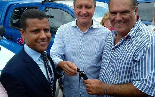 Coordenador da 5ª COORPIN, Dr. José Neri, governador Rui Costa e o prefeito de Valença, Ricardo Moura