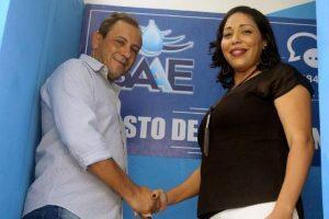Vice-prefeito Humberto Malheiros e Rosemery Paixão, diretora do SAAE
