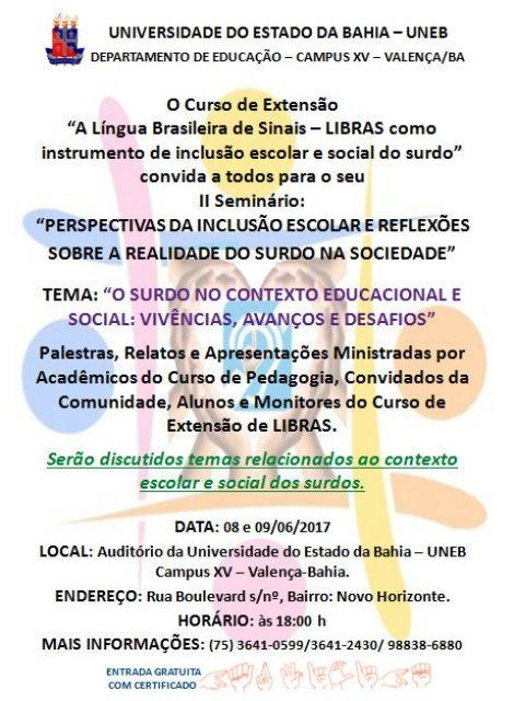 cartaz II seminário - imagem 1