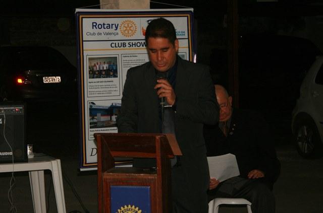 Governador Assistente Anderson Freitas leu a mensagem do presidente do Distrito 4550