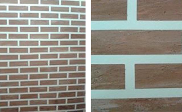 Quando terminar a fileira, passe a espátula para alisar o tijolo e para evitar ter de lixar