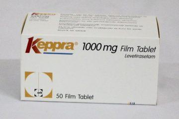 O medicamento Keppra (levetiracetam) usado para o tratamento de convulsões
