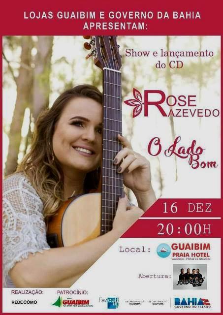 Evento - Rose Azevedo na Praia de Guaibim